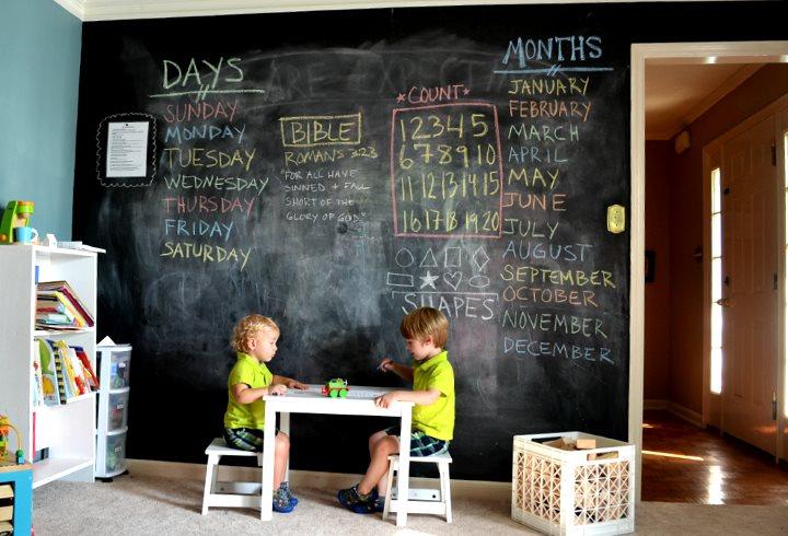 Графитовая стена в детской
