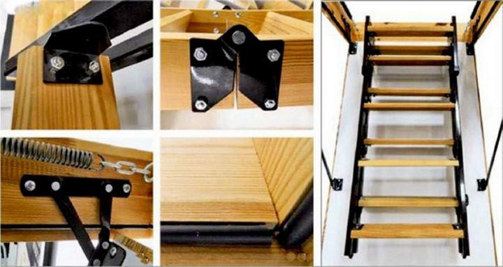 коллаж установки лестницы