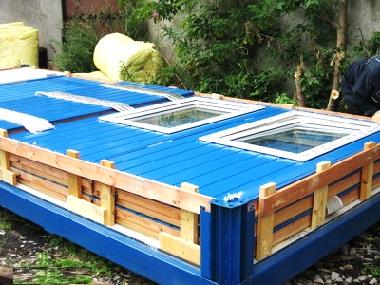 Синий комплект из блоков