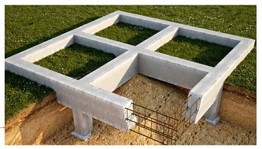Качественная 3д модель ленточного фундамента в разрезе
