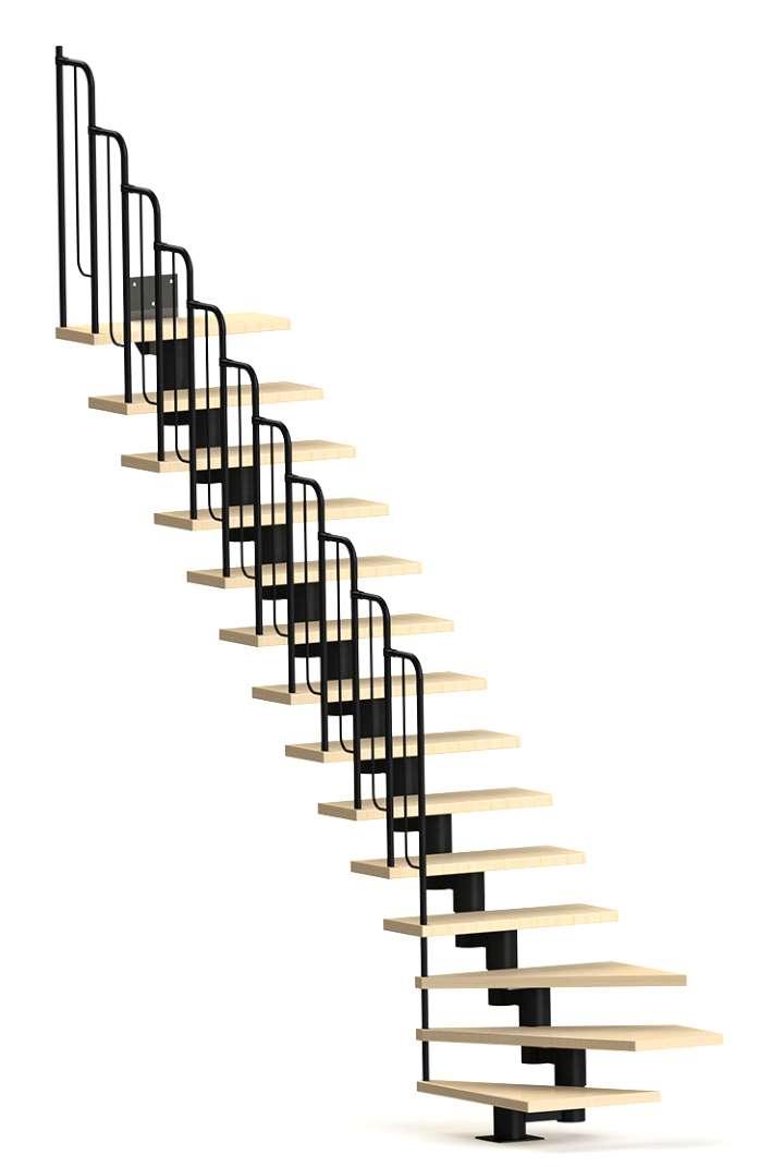 компактная лестница гусиный шаг