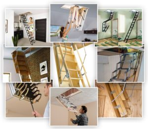 9 видов лестниц на чердак