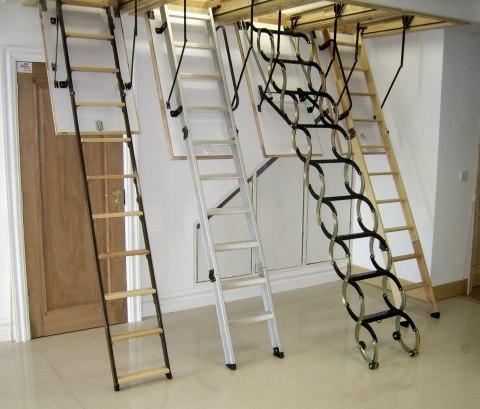 4 варианта складных лестниц