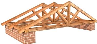 Макет несущей системы крыши
