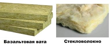 Стекловолокно и базальтовая вата от шума
