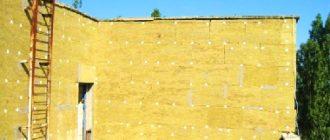 Стена утепленная минватой