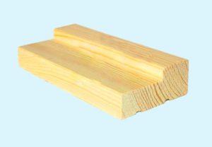 Г-образный деревянный брусок для оконной коробки