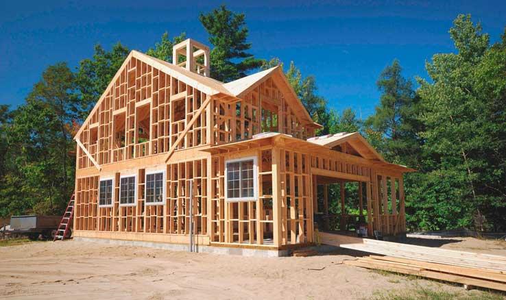 строительство каркасного дома вместе с гаражем