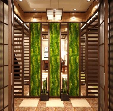 Комната с зеленой ширмой