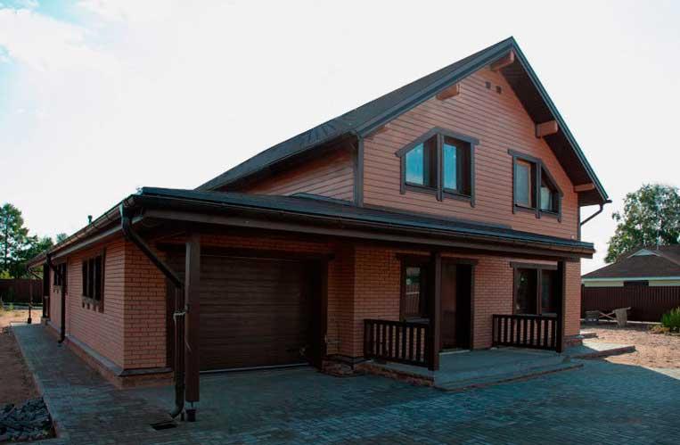 Каркасный дом с гаражем
