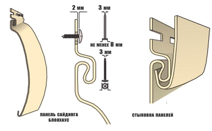 схема замка сайдинга
