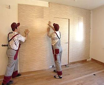 Монтаж на стену тонколистовых панелей мдф