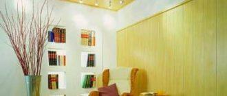 плиті МДФ в отделке стен и потолка