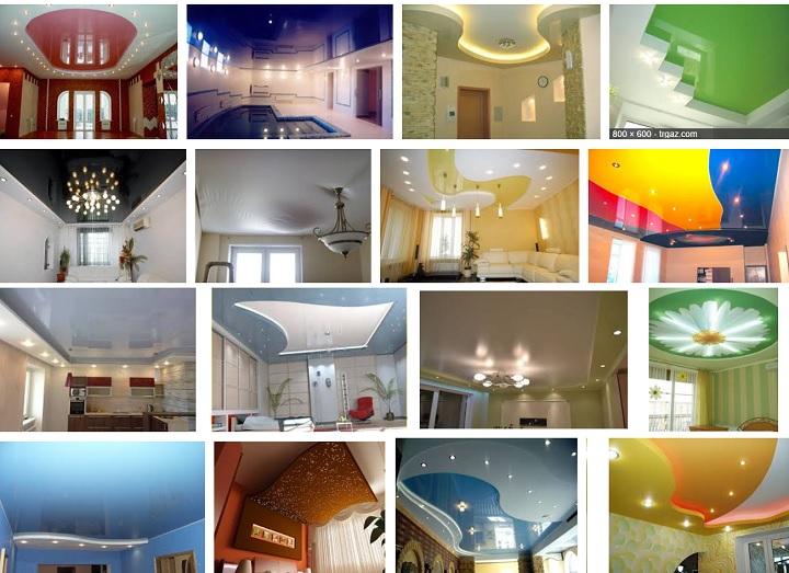 Разнообразные дизайны натяжных потолков