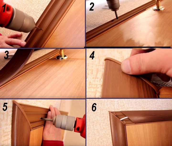 Процесс установки наличников межкомнатной двери