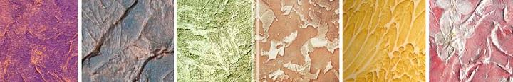 Варианты бороздчатых текстур декоративной штукатурки