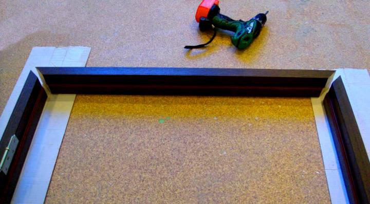Раскладка брусков дверной коробки