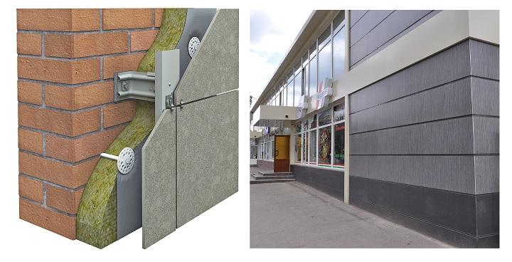 Строение каркаса вентилируемого фасада