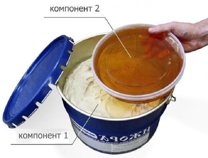 Две смеси для герметизации кровли