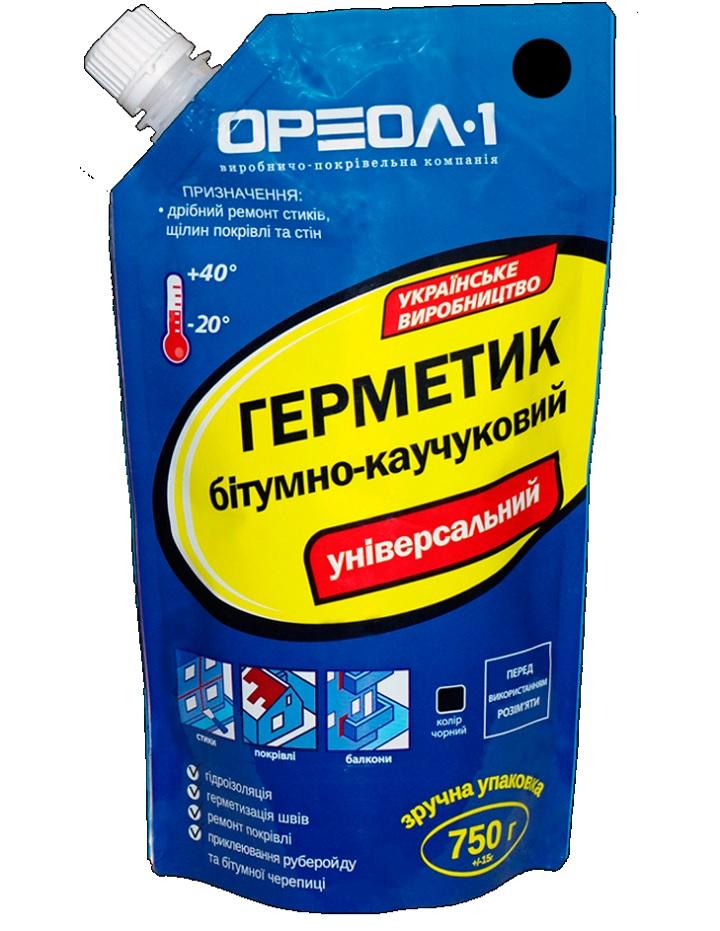 Упаковка герметика для кровли битумно-каучукового