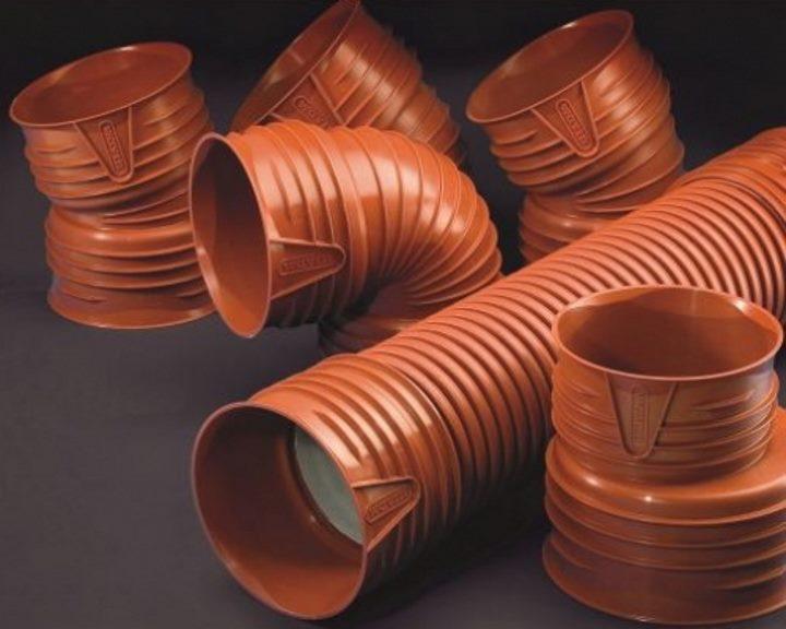Отводы для гофрированных труб