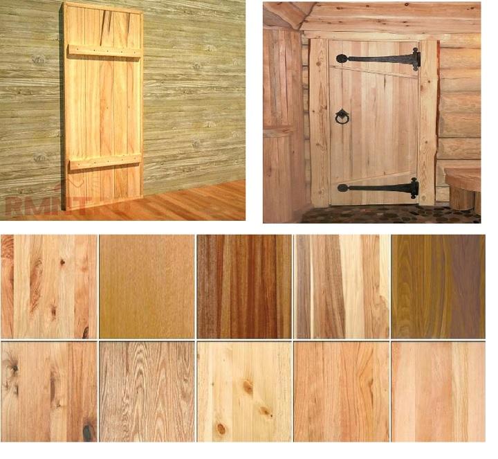 Дверь из массива ценных пород деревьев