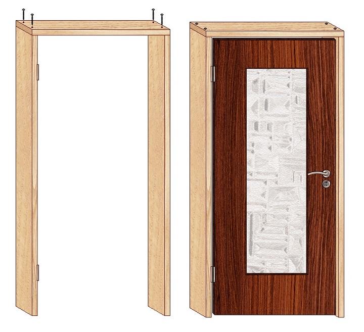 Конструкция дверной коробки