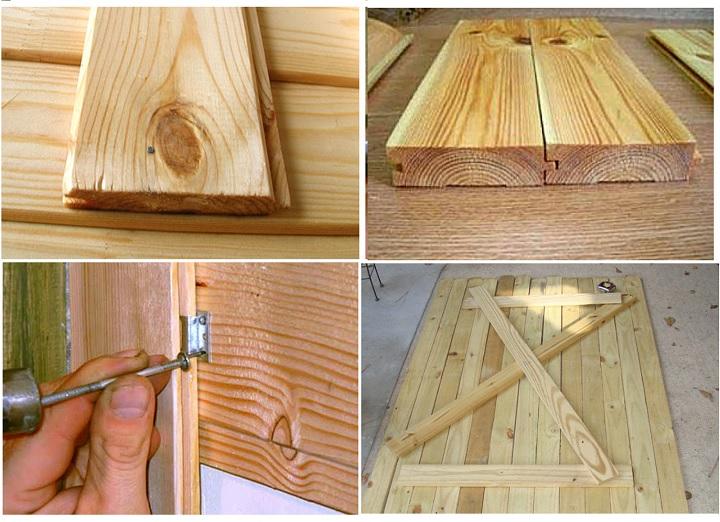 Изготовление двери из шпунтованных досок