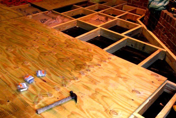 Монтаж деревянного пола по грунту