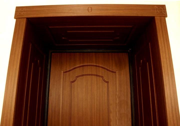 Дверной добор темный каштан