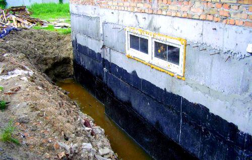 Защита подвала от грунтовых вод