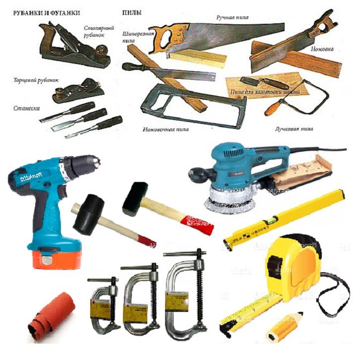 Перечень инструментов для самостоятельного изготовления двери