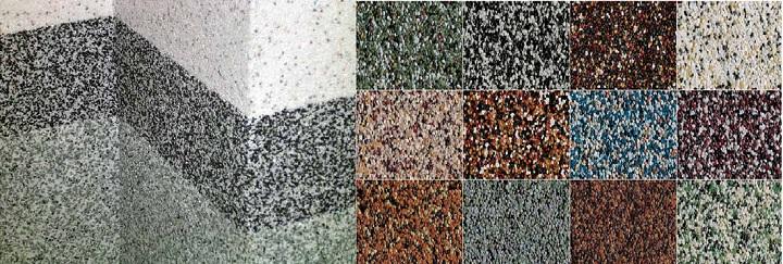 Варианты мозаичной штукатурки