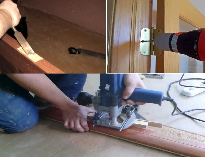Врезка петель стамеской и электроинструментом