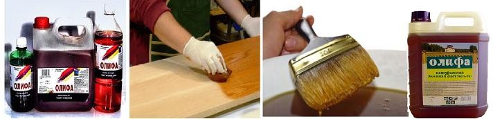 Процесс пропитки олифой древесины