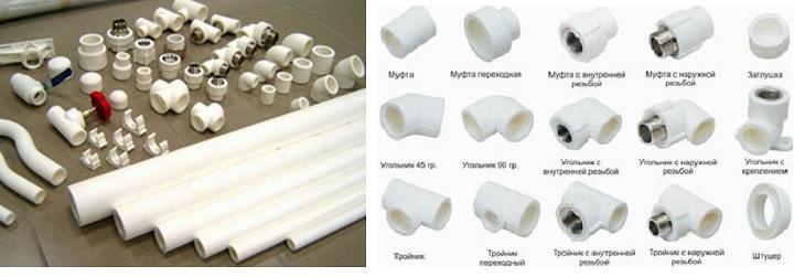 Полипропиленовые отводы и трубы