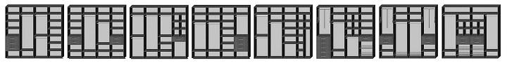 Схемы наполненя шкафов-купе