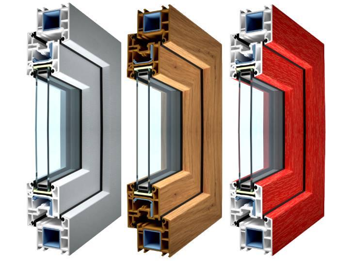 Серебро, бронза, красный - цвета окон ПВХ