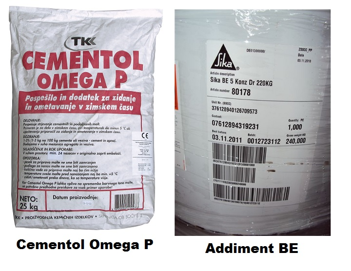 2 добавки к бетону: цементол омега, эддимент