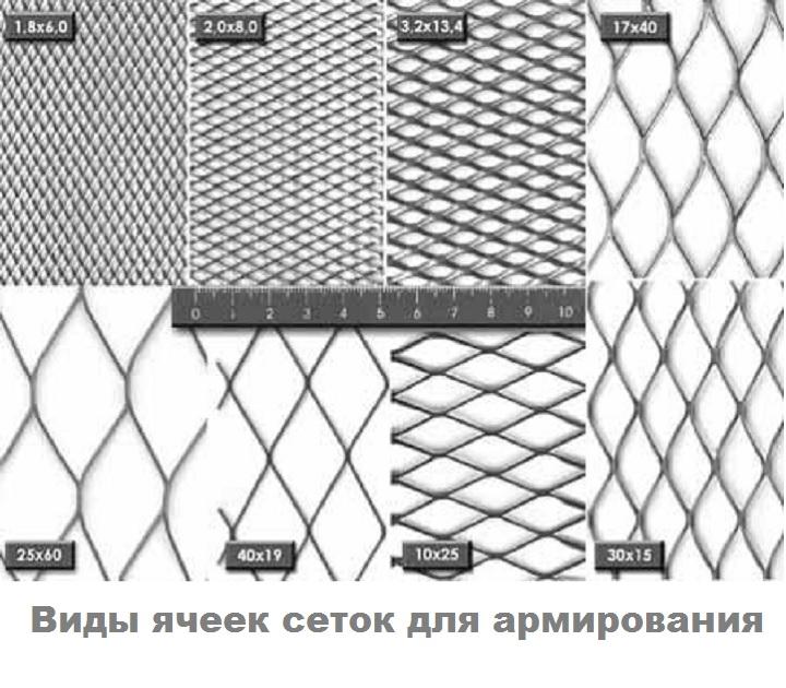 Ячейки металлической сетки