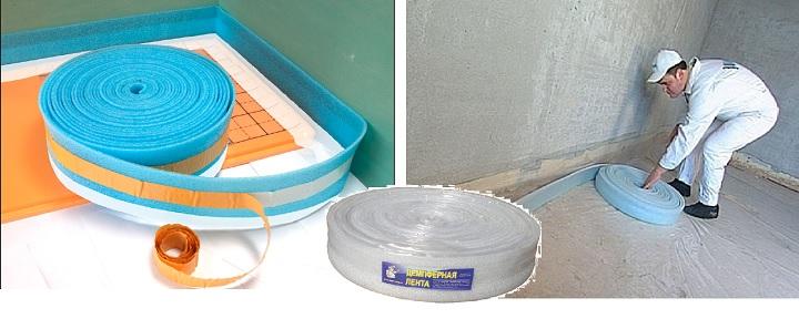Использование демпферной ленты при бетонировании