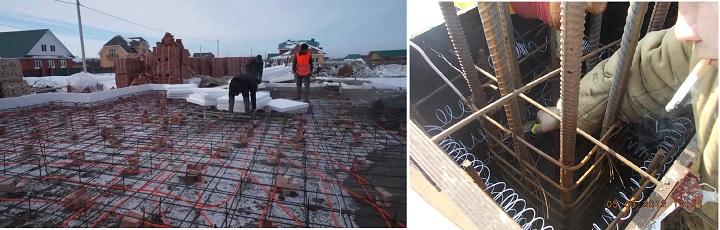 Виды укладки кабеля в бетоне