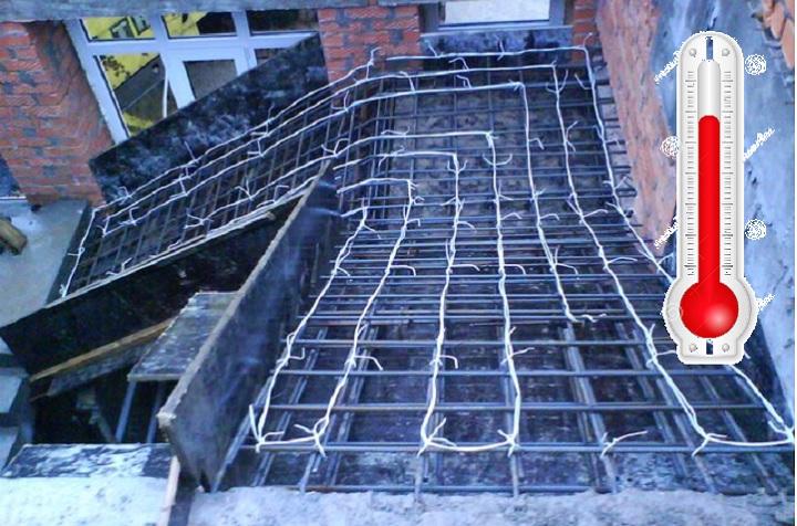 Электропрогрев бетона проводом гост смеси бетонные п3
