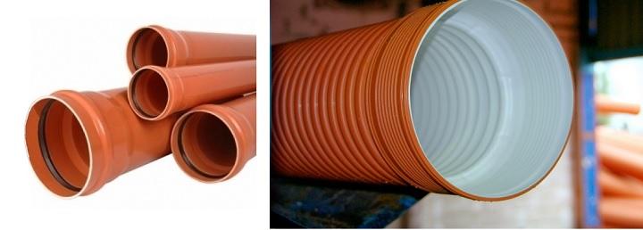 Виды труб для внешней канализации