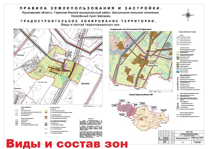 Пример зонирования участков на генплане города