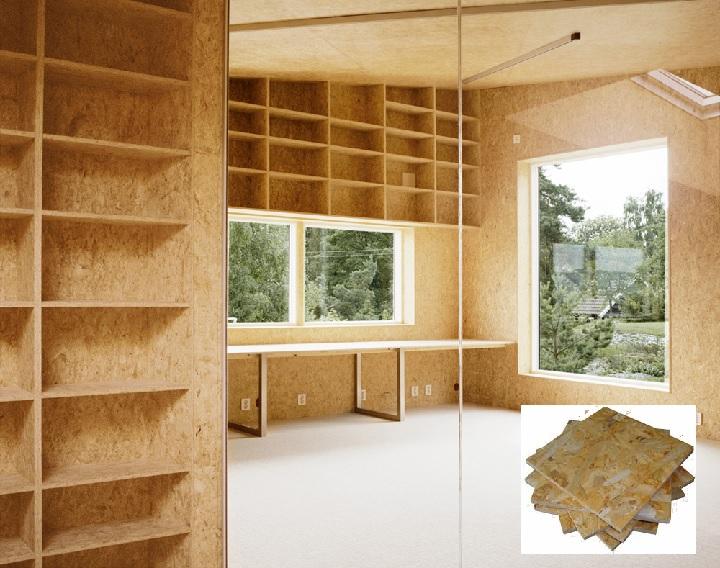 Внутренняя отделка каркасного дома ОСП