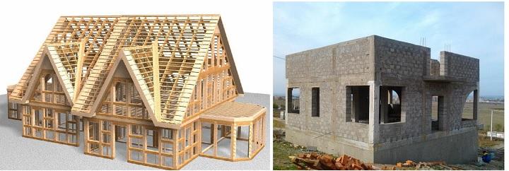 Легкий каркасный дом против капитального каменного