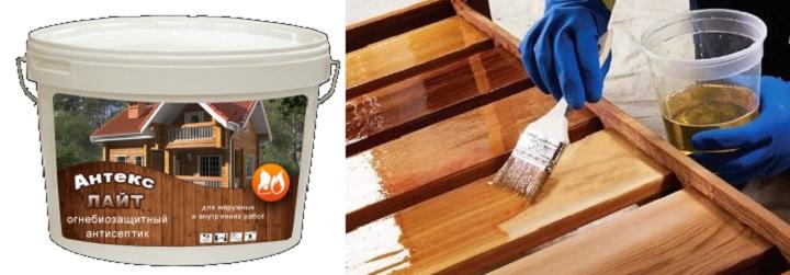 Покрытие древесины пропиткой