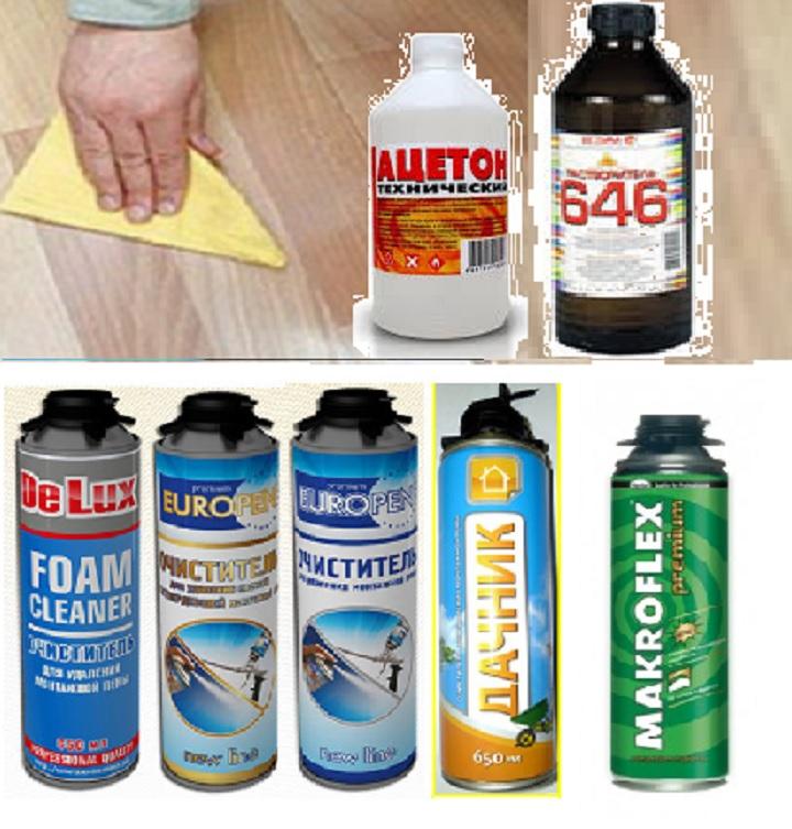 Средства для очистки ламината от пены