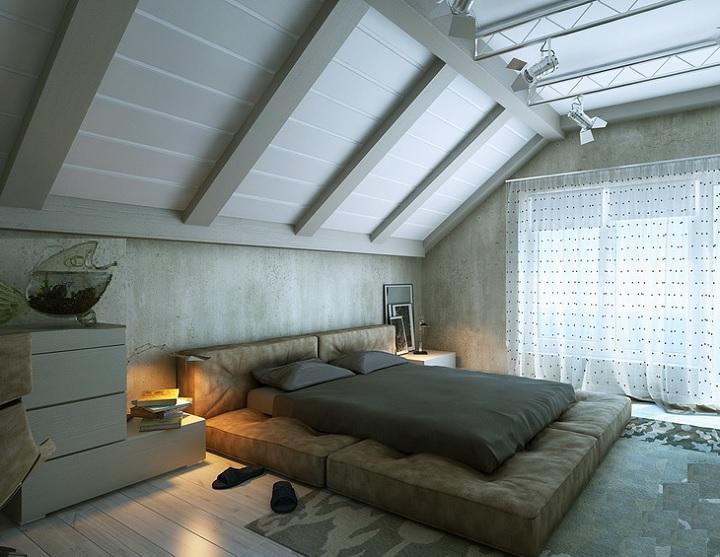 Спальня на мансардном этаже